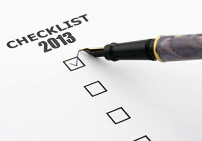 Checklist 2013