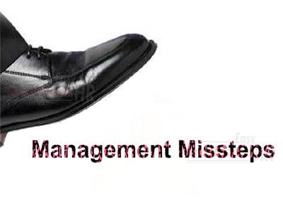 Management Missteps