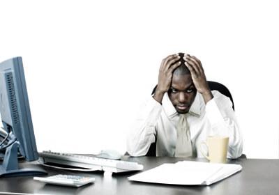 Unhappy Male Employee