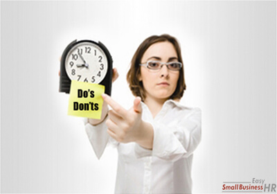 Tardiness Do's and Don'ts